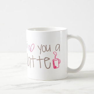 Caneca De Café Eu te amo um Latte