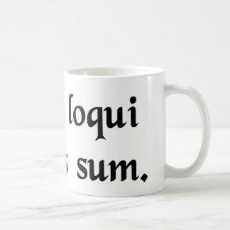 Caneca De Café Eu tenho esta obrigação para falar o latino