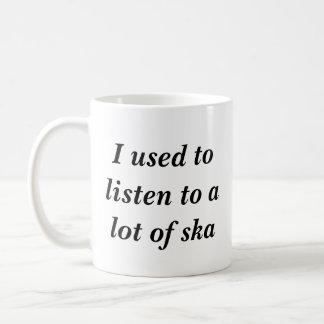 Caneca De Café Eu usei-me para escutar muito ska