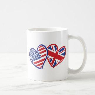 Caneca De Café EUA---Reino unido-Amor