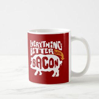 Caneca De Café Everythings melhor com bacon