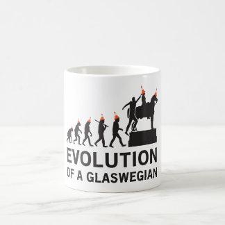 Caneca De Café Evolução de um Tshirt de Glaswegian (Glasgow)