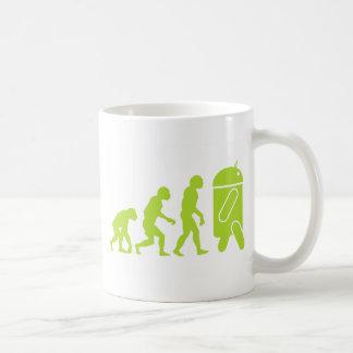 Caneca De Café Evolução do Android