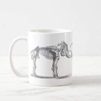 Caneca De Café Evolução do vintage do Mammoth Woolly e do