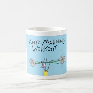Caneca De Café Exercício da manhã da formiga
