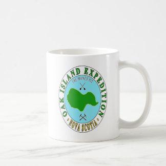 Caneca De Café Expedição do poço do dinheiro da ilha do carvalho