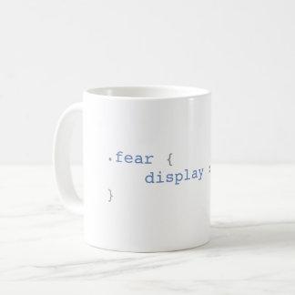 Caneca De Café Exposição do medo nenhuns CSS engraçado
