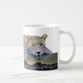Caneca De Café Exposição dobro do leopardo