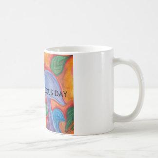Caneca de café fabulosa do dia de Shroom