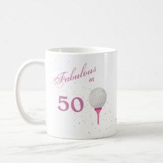 Caneca De Café Fabuloso no golfe 50 personalizado