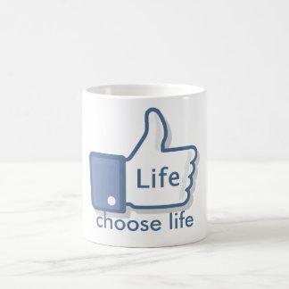Caneca De Café Facebook gosta dos Polegares-Acima da vida