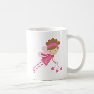 Caneca De Café Fada cor-de-rosa