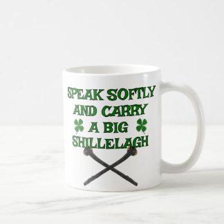 Caneca De Café Fale macia o Shillelagh grande do carregar