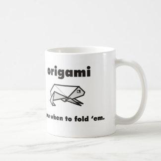 Caneca De Café Fãs de Origami