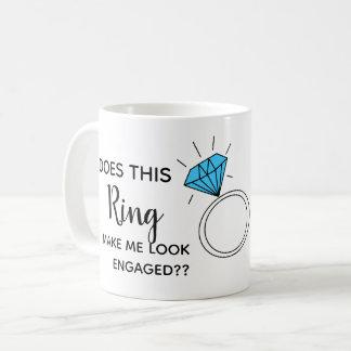 Caneca De Café faz este anel fazem-me olhar contratado