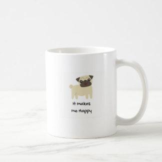 Caneca De Café Faz-me o Pug feliz