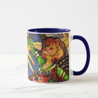 Caneca de café feericamente celestial dobro