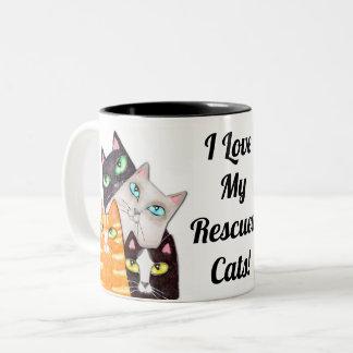 Caneca de café feita sob encomenda do gatinho do