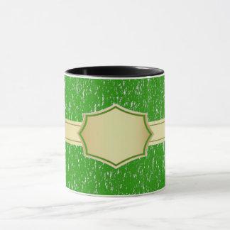 caneca de café feita sob encomenda verde do