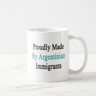 Caneca De Café Feito orgulhosa por imigrantes argentinos