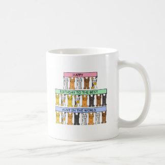 Caneca De Café Feliz aniversario à melhor tia nunca