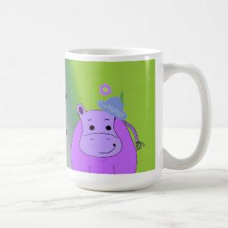 Caneca De Café Feliz como um hipopótamo - Hippopotamus roxo