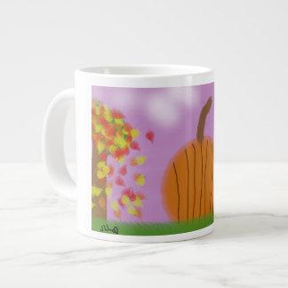 Caneca de café feliz da queda