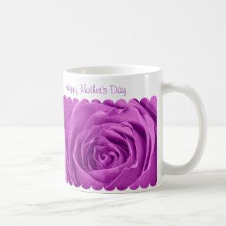 Caneca De Café Feliz dia das mães - centro cor-de-rosa da