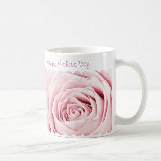 Caneca De Café Feliz dia das mães - centro do rosa do rosa Pastel