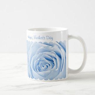 Caneca De Café Feliz dia das mães - luz - centro do rosa do azul