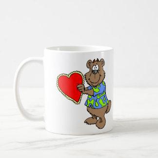 Caneca De Café Feliz dia dos namorados bonito do urso do amor dos