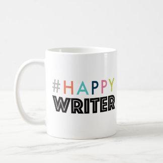 Caneca de café feliz do escritor