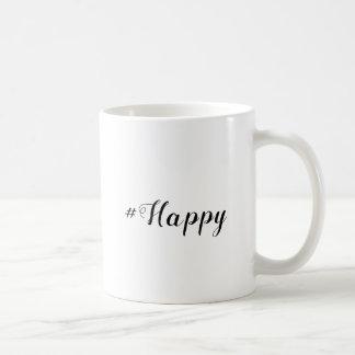caneca de café feliz #Happy de | Hashtag