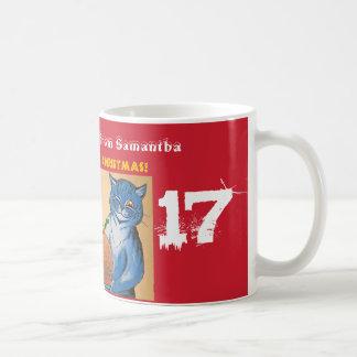 Caneca De Café Feliz Natal do #holidayz dos gatos