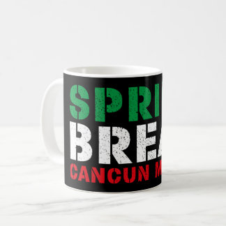 Caneca De Café Férias da primavera Cancun México