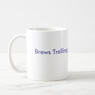 Caneca De Café Fermentações que pescam à linha a cara do troll