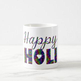 Caneca De Café Festival Hindu antigo feliz de Holi das cores