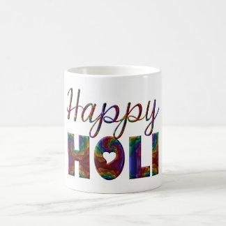 Caneca De Café Festival Hindu antigo feliz de Holi do amor
