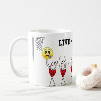 Caneca De Café Figura Netball engraçado da vara dos jogadores