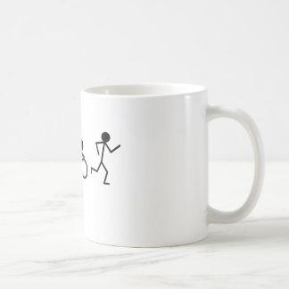 Caneca De Café Figuras da vara do Triathlon