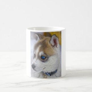 Caneca De Café Filhote de cachorro 2 do rouco Siberian
