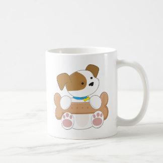 Caneca De Café Filhote de cachorro bonito com um petisco