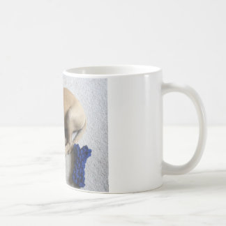 Caneca De Café filhote de cachorro do cur da Preto-boca com