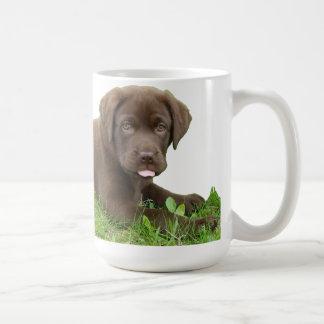 Caneca De Café Filhote de cachorro do laboratório do chocolate