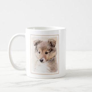 Caneca De Café Filhote de cachorro do Sheepdog de Shetland