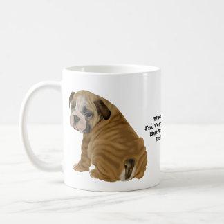 Caneca De Café Filhote de cachorro inglês impertinente do