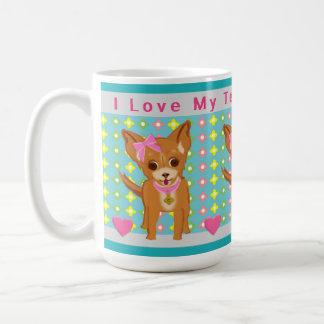 Caneca De Café Filhote de cachorro pequeno bonito da chihuahua