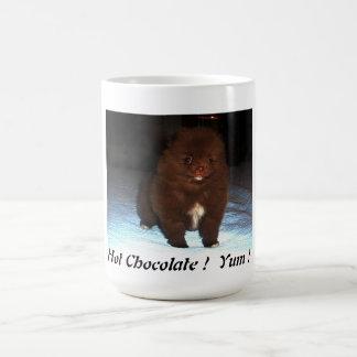 Caneca De Café Filhote de cachorro pomeranian do chocolate na