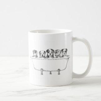 Caneca De Café Filhotes de cachorro de Pitbull na cuba -