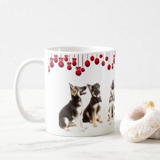 Caneca De Café Filhotes de cachorro do german shepherd e